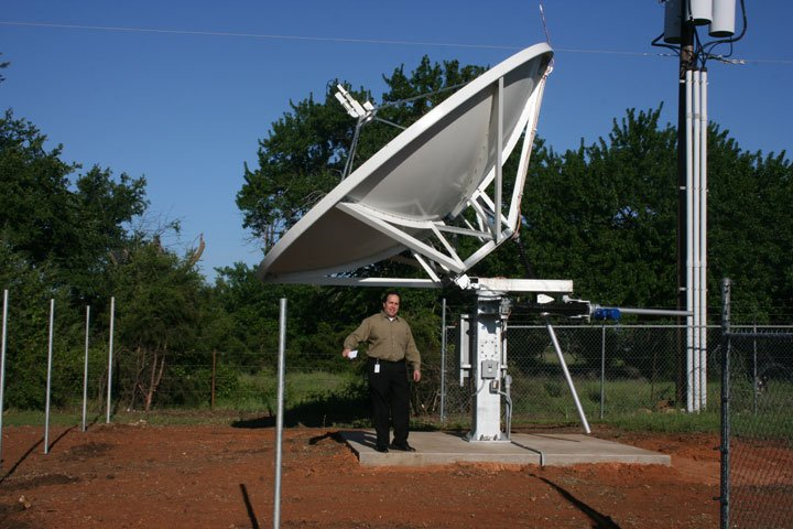 New Primary ABC Satellite, 1 of 2 new dishes.