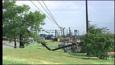 Downed tree and power lines North of Hwy 82