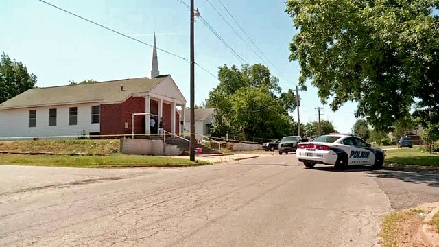 The body of Rev. Michael Dean Walworth was fond near First Missionary Baptist Church in Chickasha on June 16, 2017. (KFOR)