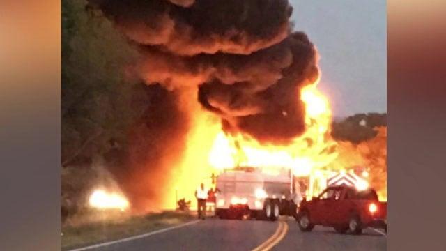 Kingston tanker fire