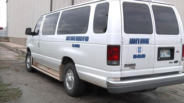 The Abba's House youth group was in this van when they spotted the abandoned infant on Saturday. (KTEN)