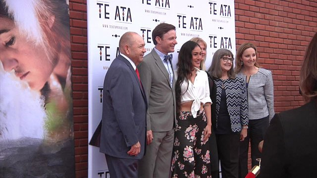 "Posing for photos at the premiere of ""Te Ata"" in Ada. (KTEN)"