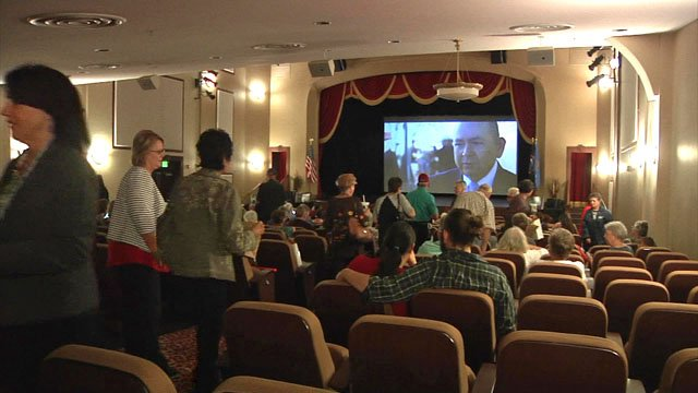 """Te Ata"" had its public debut at the historic McSwain Theatre in Ada. (KTEN)"