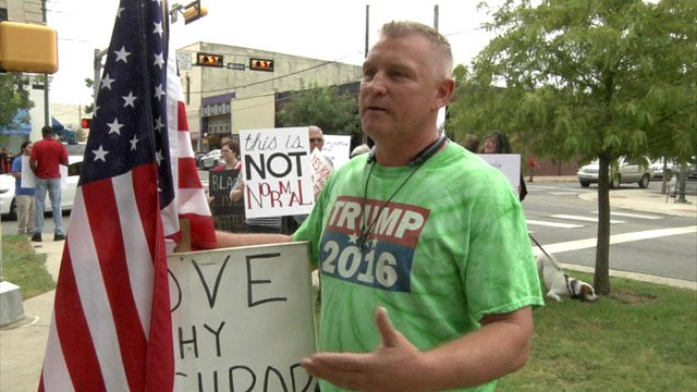 Darren Kessler said he supported Donald Trump, but believes people should be allowed to peacefully disagree. (KTEN)