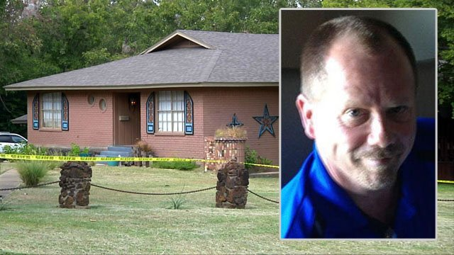 Michael Lindsey was found dead in this home in the 1500 block of West Gandy Street in Denison. (KTEN)