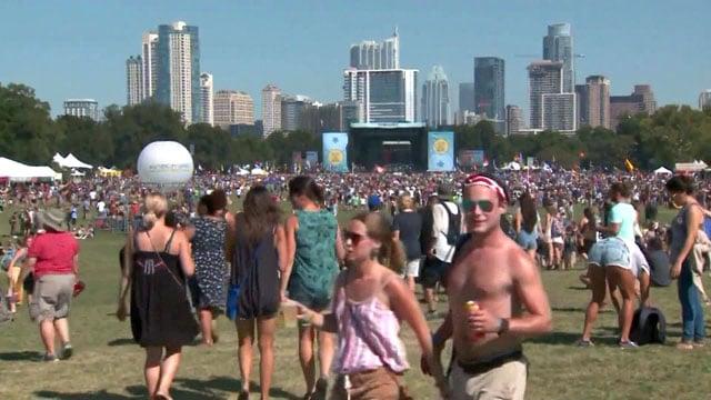 The crowd at the Austin City Limits festival. (CNN)