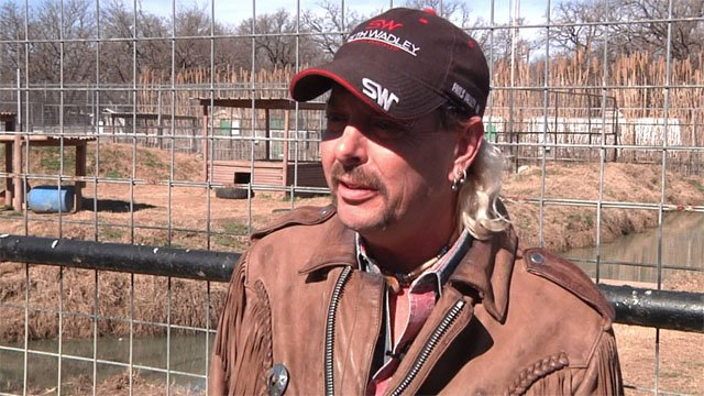 "Joe ""Joe Exotic"" Maldonado speaking to KTEN in January 2016. (KTEN)"