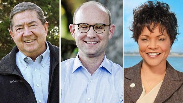 Oklahoma Democratic gubernatorial candidates Drew Edmondson (L), Scott Inman (C), and Connie Johnson. (KTEN)
