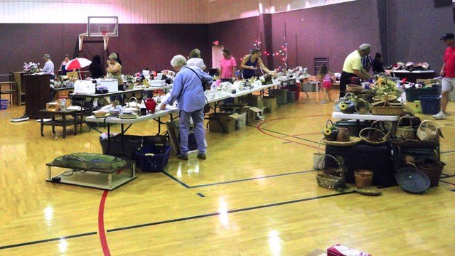 The Sherman Evening Lions Club garage sale in October, 2013. (Facebook)