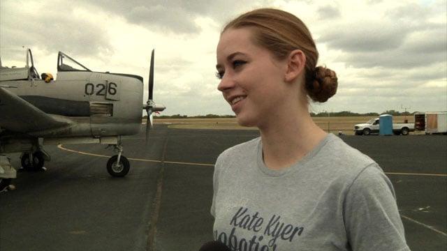 Emma Herrington, 16, plans to become a commercial airline pilot. (KTEN)