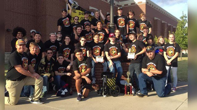 The Denison High School Robotics Team took first place honors in a competition against 54 other schools in North Texas. (Courtesy)