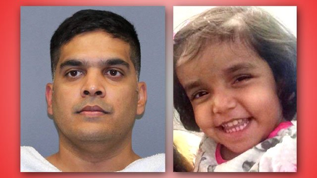 Wesley Mathews, left, was arrested in connection with the death of his three-year-old daughter Sherin. (KTEN)