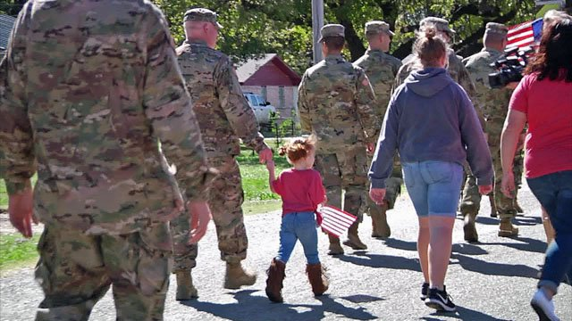 A parade through Calera offered support to service members and their families. (KTEN)