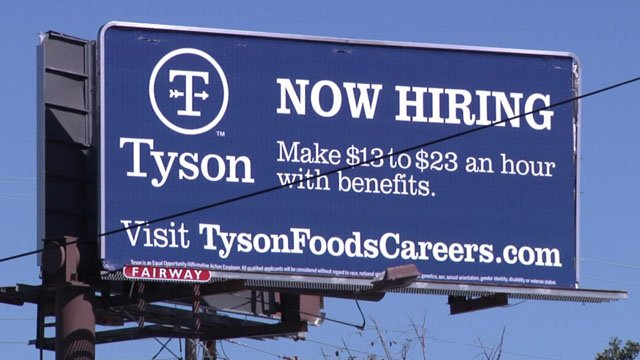 When most people have jobs, employers have a harder time finding workers. (KTEN)