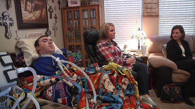 Conner McDougall's mom is appealing to the Oklahoma Legislature to maintain the programs he needs to survive. (KTEN)