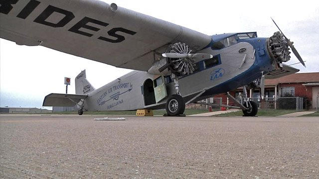 One of the only remaining Ford Trimotor aircraft still airworthy will offered rides to passengers in Ada. (KTEN)