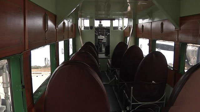 Everybody has a window seat in the Ford Trimotor. (KTEN)