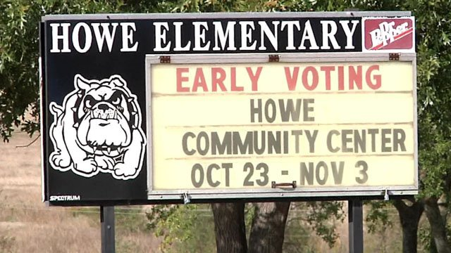 Early voting continues through Nov. 3 in the Howe ISD bond election. (KTEN)