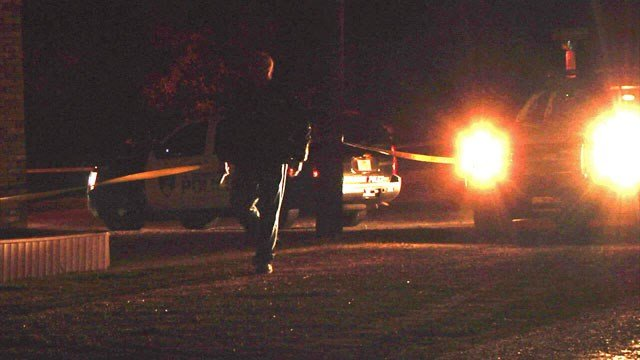 Denison police investigate a homicide case in the 3000 block of South Eisenhower Parkway. (KTEN)