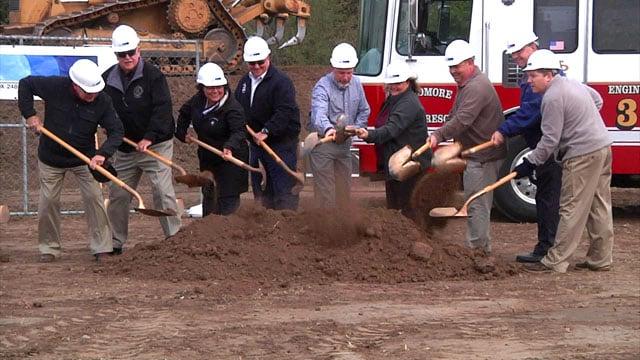 Officials break ground for Ardmore's new Fire Station No. 3. (KTEN)