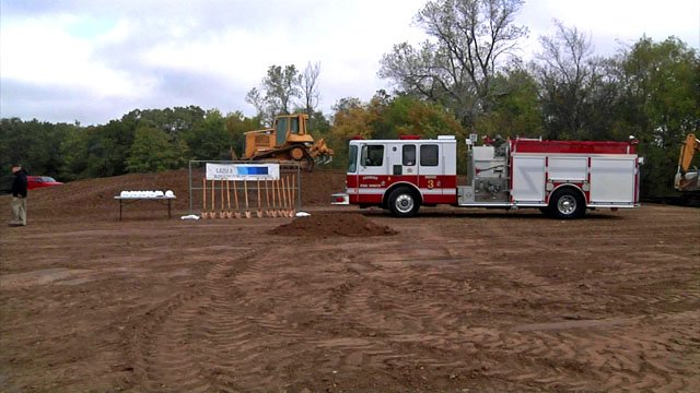 The site for Ardmore's new Fire Station No. 3 is adjacent to Noble Stadium. (KTEN)