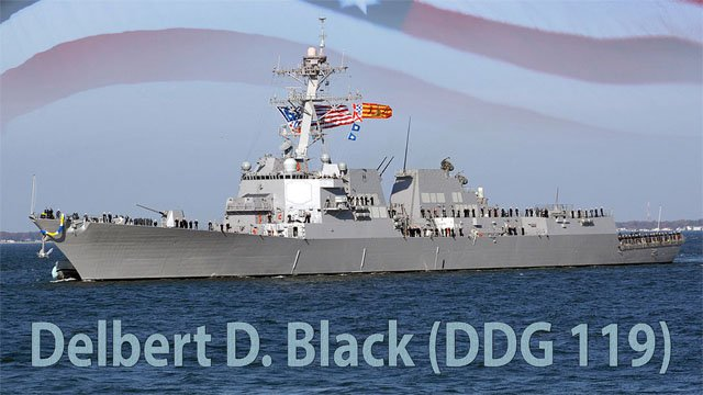 The USS Delbert D. Black (US Navy photo illustration)
