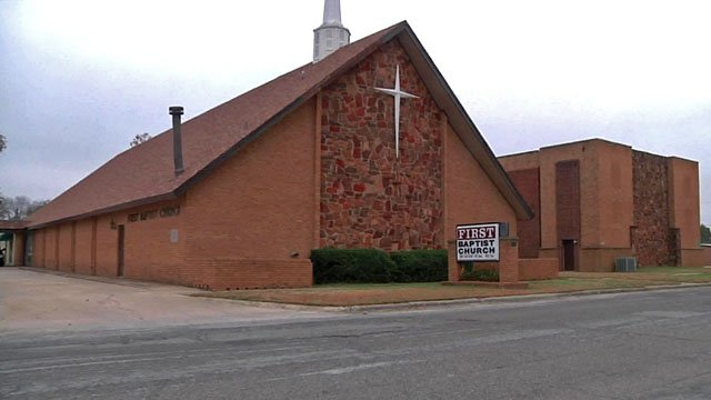 Davis police are investigating a burglary at First Baptist Church. (KTEN)