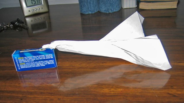 An example of a paper airplane.