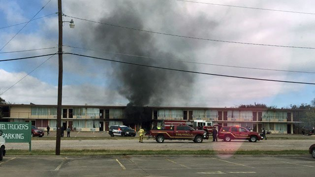 Fire broke out at the Executive Inn in Sherman. (Courtesy Teri Ridge)