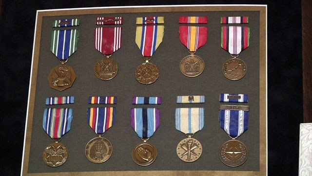 Colt Floyd received multiple medals during his military career, including the Purple Heart. (KTEN)