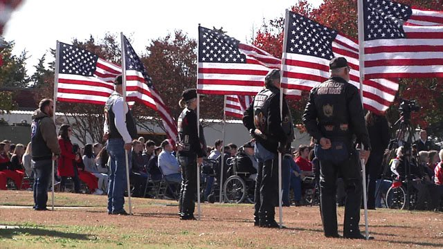 Veterans Day ceremony at the Ardmore Veterans Center. (KTEN)