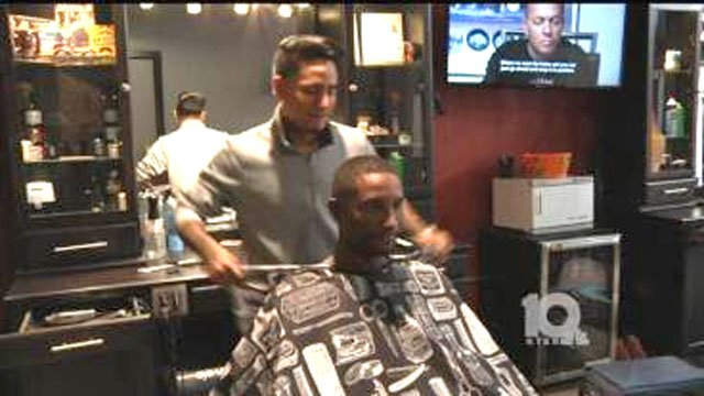 House of Fades offered free haircuts to veterans on Saturday. (KTEN)