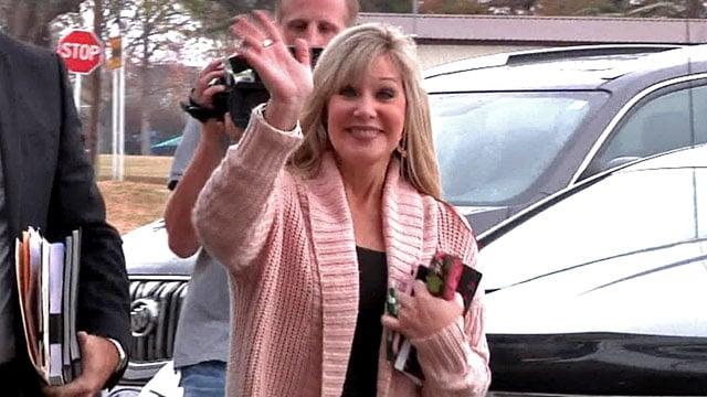 Former Tishomingo teacher Shelley Jo Duncan arrives for a hearing on Tuesday. (KTEN)