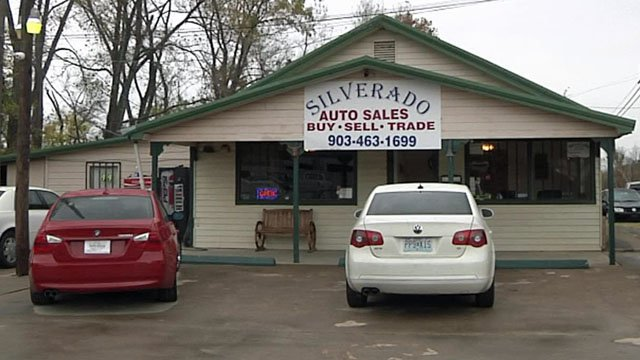 A vehicle stolen from Silverado Auto Sales was recovered, Denison police said. (KTEN)