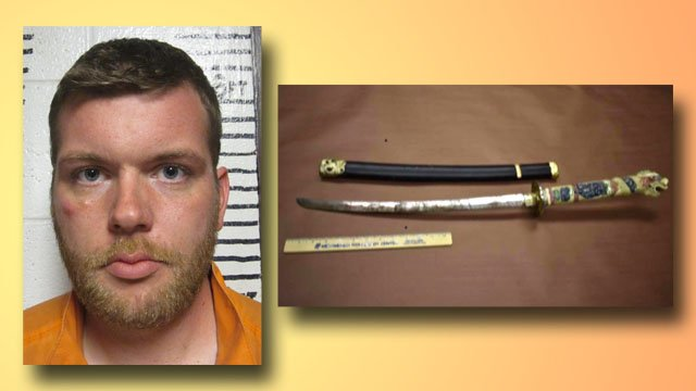 Police said Joshua Dial attacked another man with a sword. (Garvin County Jail/Pauls Valley PD)