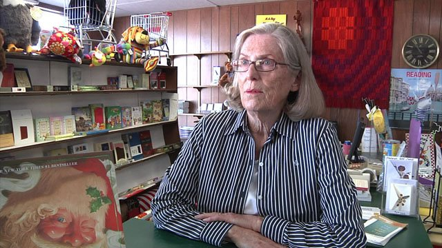 """You can't get a hug or a welcome home from your trip from a computer screen,"" said Lois Proctor, manager of The Bookseller in Ardmore. (KTEN)"