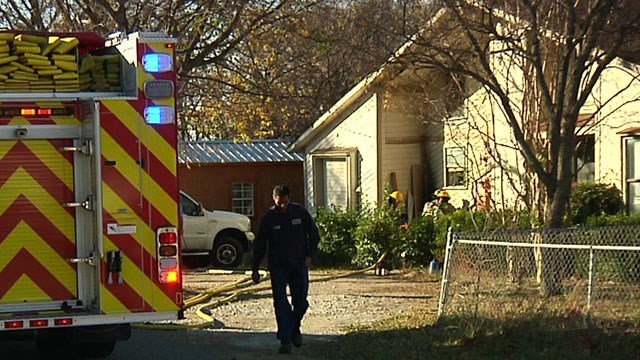 Denison firefighters made quick work of a house fire on Persimmon Street. (KTEN)