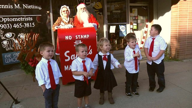 Santa's Mailbox is in a new spot in downtown Denison. (KTEN)