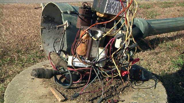 Thieves are knocking down lamp posts at the Tanglewood Resort to steal copper wiring. (KTEN)