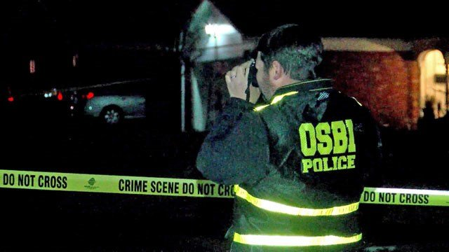 The OSBI investigates at the scene of a double homicide in Duncan, Oklahoma. (KFDX)