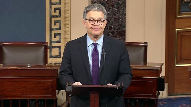 Minnesota Sen. Al Franken announces his resignation. (CNN)