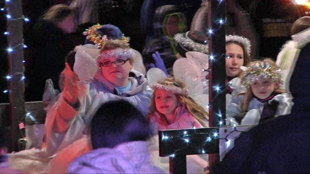 A float in the 2017 Denison Christmas Parade. (KTEN)
