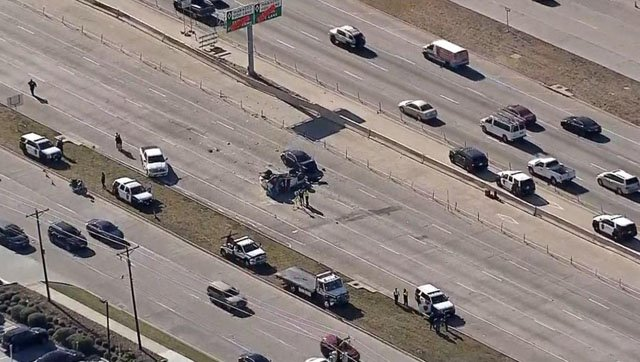 Three people died in a crash on U.S. 75 in Plano. (KXAS)