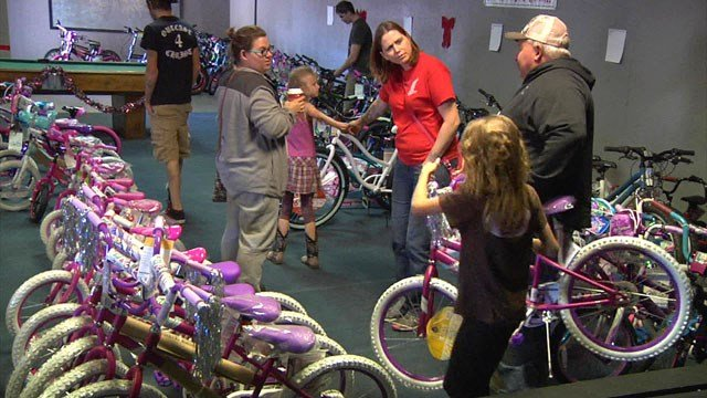 The Outcast 4 Christ Bikes for Christmas program will see that more than 100 underprivileged kids will have a happier holiday season. (KTEN)