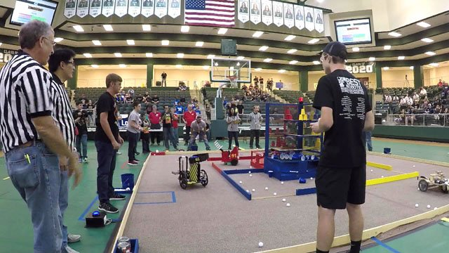 The Denison High Robotics Team competed against 70 other schools from across Texas. (Courtesy)