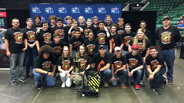 The Denison High School Robotics Team took 3rd place in the state championships. (KTEN)