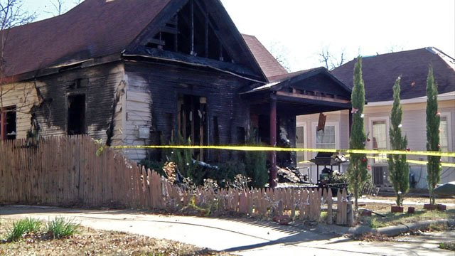 A Sherman family escaped when fire swept their home early Tuesday morning. (KTEN)