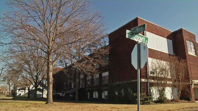 This century-old Sherman school building may become a residence for seniors. (KTEN)