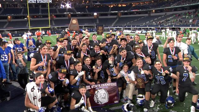The Gunter Tigers prevailed in the 2016 state championship game. (KTEN)