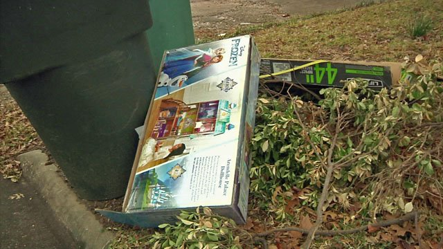 Police say empty boxes can leave clues for potential burglars. (KTEN)